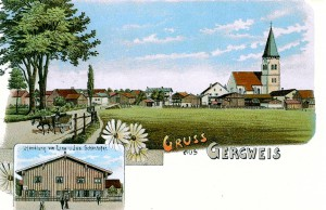 Postkarte Gergweis ca 1950