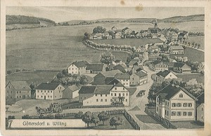 Postkarte Göttersdorf-Willing 1917